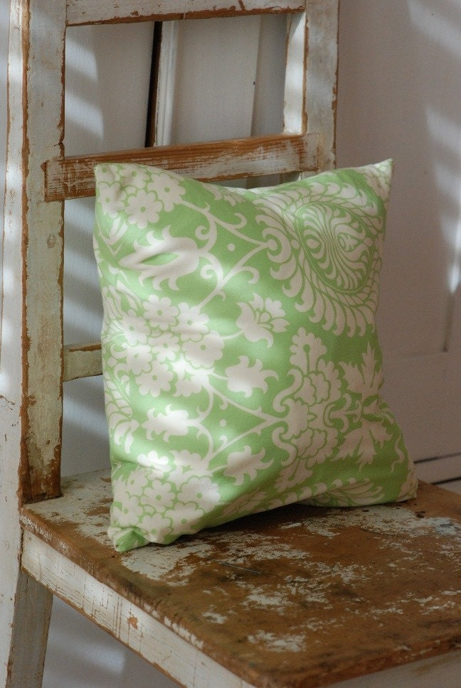 Shabby Chic Toss Pillows : Decorative Throw Shabby Chic Pillow Cover 14 x 14 Green