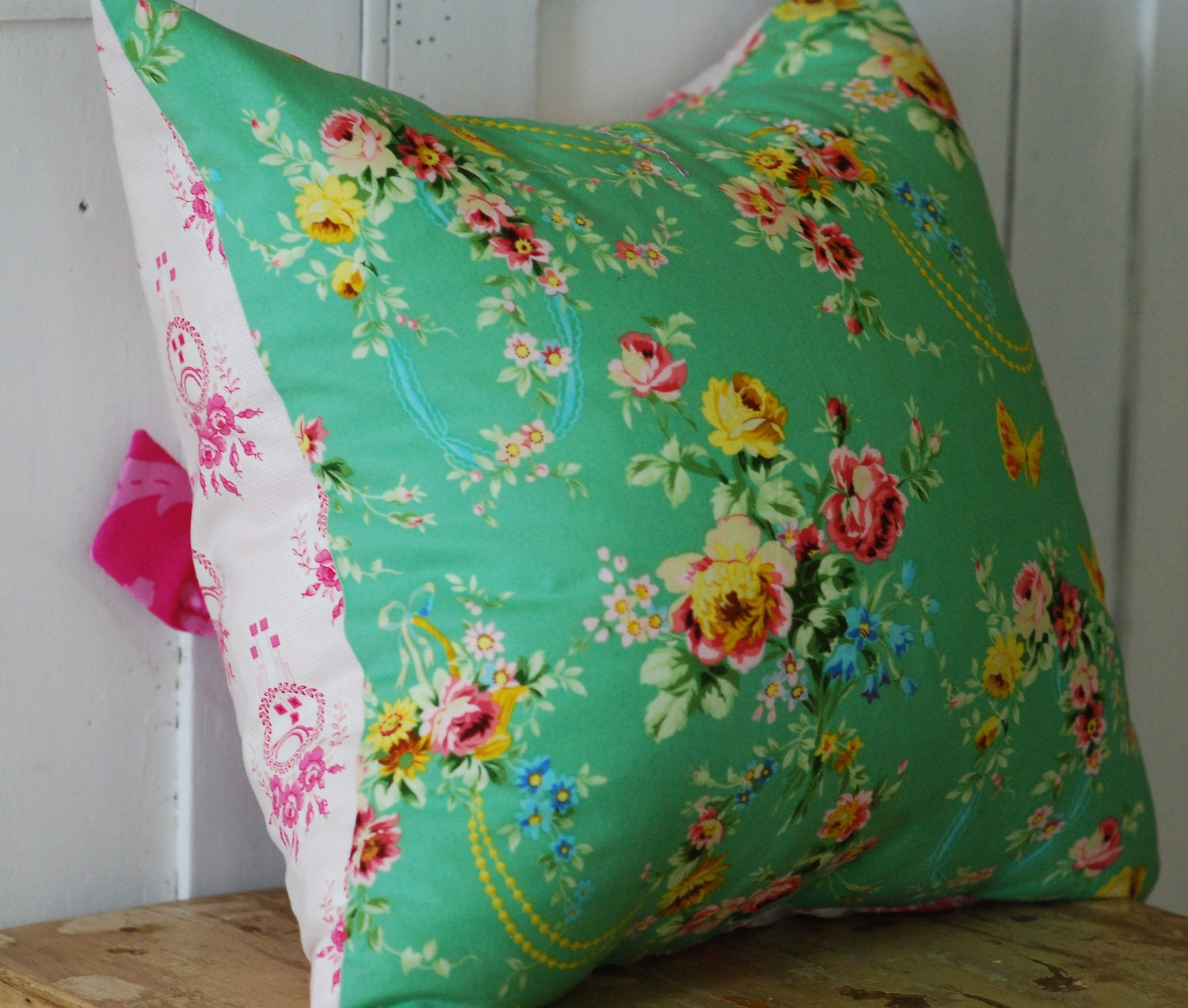 Etsy Shabby Chic Throw Pillows : Shabby Chic Pillow Cover Cottage Chic Throw Pillow