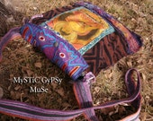 S U N S E T buddha - Gypsy Patchwork Hip Bag Tote Purse Exotic Eco Upcycle