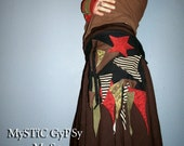 S T A R S are O U T tonight - Gypsy Patchwork Pocket Belt Hip Bag Eco Upcycle
