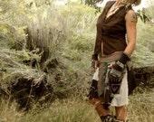 C U S T O M for Kay- Dancing Pixie Pocket Skirt Eco Upcycle