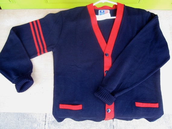 Vintage Deadstock Mens Letterman's sweater from the 1960s 70s or 80s