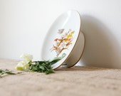 Ceramic Soap Dish-Butterflies and Blooms