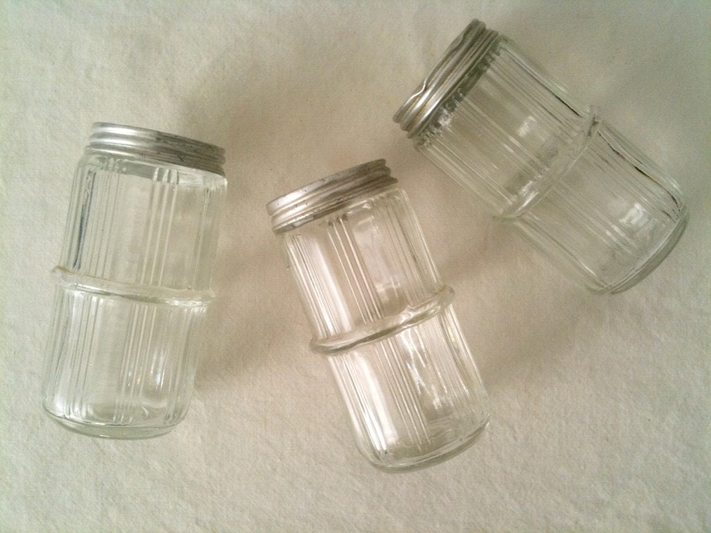 small glass spice jars with lids