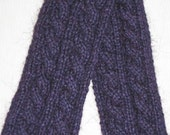 Purple Reversible Cable Scarf