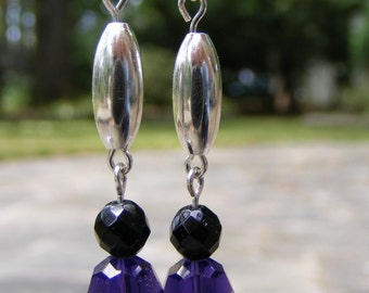 Swavorski Crystal and Sterling Silver Earrings