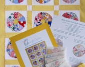 Baby Aster Doll Quilt Top Kit -- Authentic Vintage 1930/40s Prints