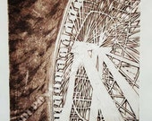 The Ferris Wheel, 10x13 Intaglio Prints