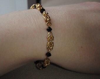 Byzantine Austrian Crystal Chainmallie Bracelet