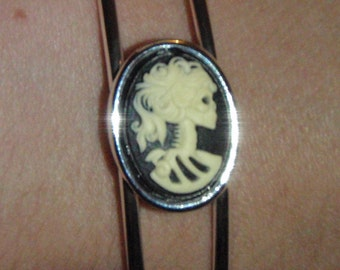 SALE Gothic Steampunk Lady Death bracelet SALE