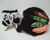 Blackhawk Helmet and Ice Skate Booties, NHL Blackhawks