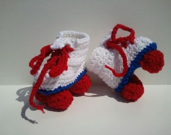 Stroller Rollers, Red white and blue Skates, Roller skates, Baby Shower