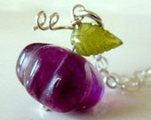 CLEARANCE  50% OFF Purple Necklace, Fluorite Gemstone Necklace, Sterling Silver