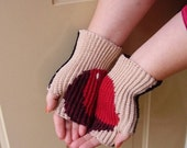 Apple Palms - a fingerless mitts crochet pattern
