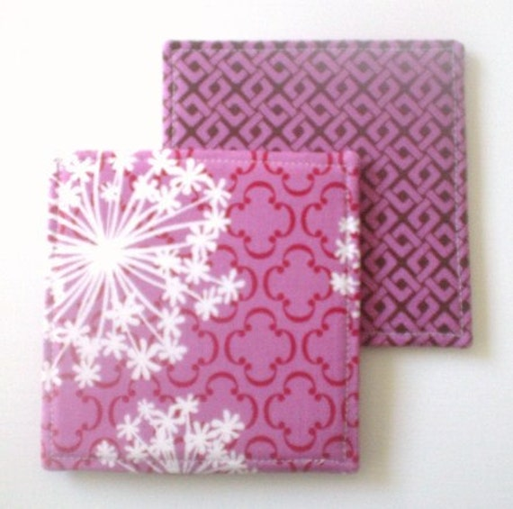 Coasters  Queen Annes Lace and Links in Orchid