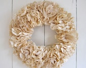 paper wreath hand dyed
