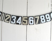 1 vintage metal number, choice of numbers, dollars or cents signs