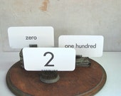 vintage number flashcards pick your number zero to one hundred