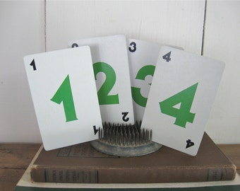 number cards, numbered cards, table numbers, paper ephemera, wedding numbers,