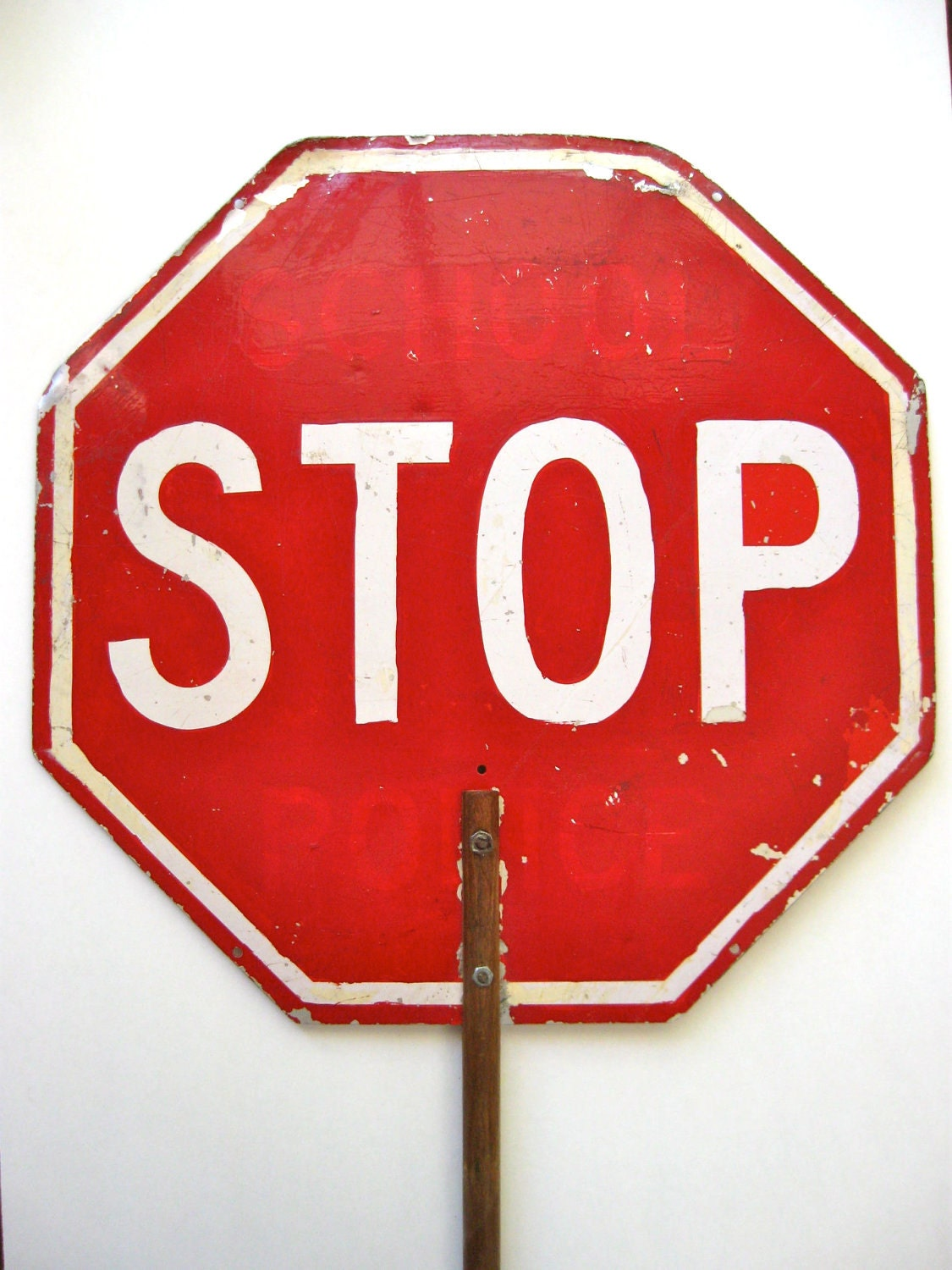 Vintage Crossing Guard Stop Sign