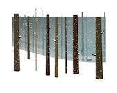 Snow landscape print - A4 Dear Winter - giclee print - fine art paper