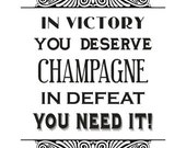 A4 Champagne quote - giclee print - fine art paper