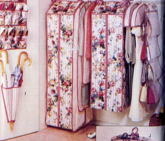 Butterick 6869 Closet Accessories Sewing Pattern Shoe Bag, Garment Bags, Umbrella Holder, Handbag Organizer, Hanger Covers and More