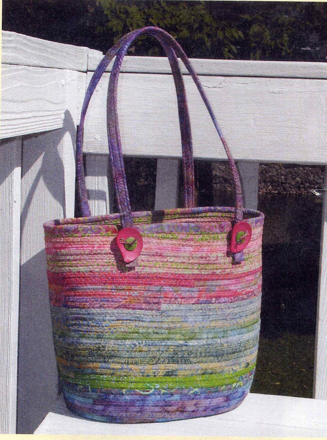 Bali bags fabric covered clothesline crafts tote bag aunties for Fabric covered boxes craft