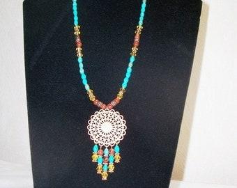 Copper Sunburst Necklace
