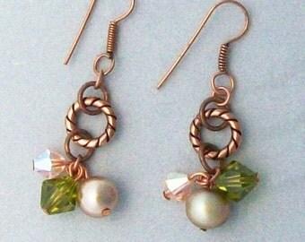 Copper Cluster Earrings