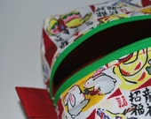 Knitting Project Bag - Zippered Box Style - Chinese New Year