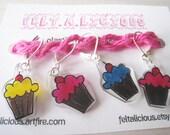 Handmade Cupcake Knit Stitch Markers (Set of 4)