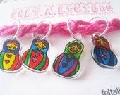 Doll Matryoshka Knitting Stitch Markers (Set of 4)