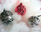 3 Vintage Cut-out Christmas Ornaments