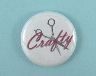 Crafty pinback button