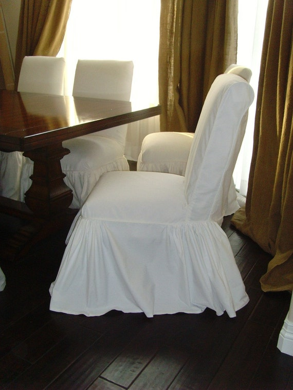 Items Similar To Four Parsons Chairs Slipcovers White