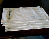 Hand Embroidered Placemats-Set of 4