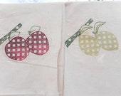 SALE Fruit Embroidery Cherries, Apples, Grapes, Pears, Lemons, Plums