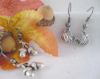 Acorn and Pumpkin Earrings (2 sets of Earrings