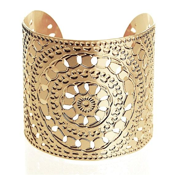 Henna Cuff Www Jamilahhennacreations Com: Gold Cuff Henna Gold Jewelry Gold Bracelet Moroccan