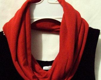 red tee shirt scarf   wear 2 ways  Unisex