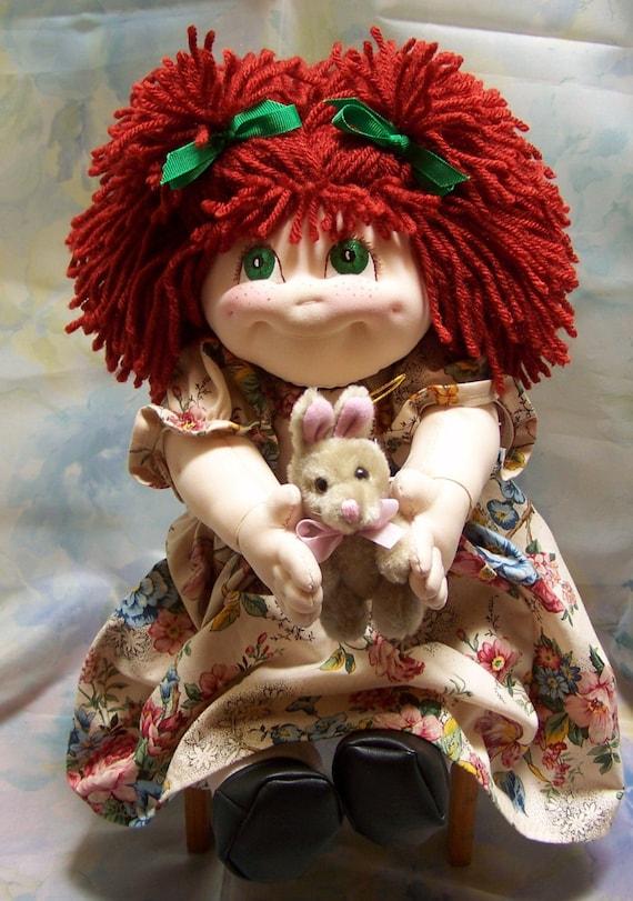 Ooak Sweet Handmade Soft Sculpture Doll Patsy Ann By Susie