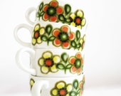 Adorable Vintage Floral Coffee Mugs - Made in England