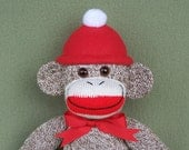 Classic Red Heel Sock Monkey