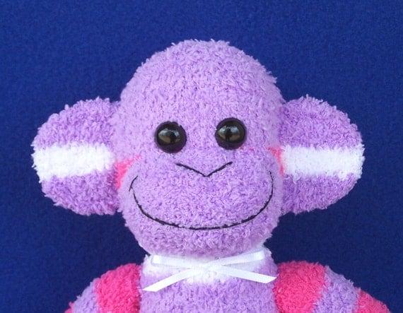 Purple Stripe Sock Monkey