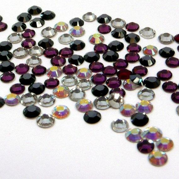 1.9mm Swarovski Crystal Flat Back Rhinestones 25 Assorted