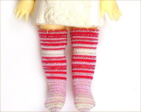 Lati Yellow Pukifee Doll Socks for Tiny BJD or Blythe Pink Sparkle