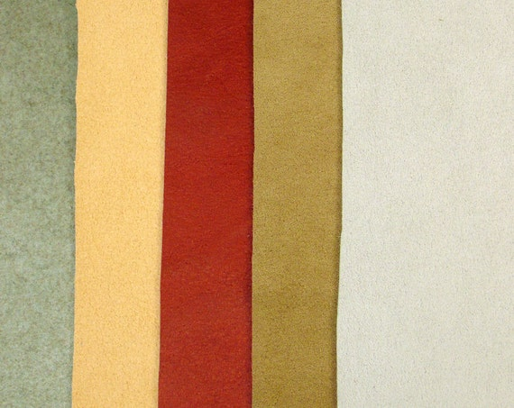 Ultrasuede Faux Suede Fabric Mix Heavy Fabrics in Upholstery Weight : Silver Gold Copper Bronze Pewter