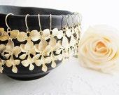 SET of 5 Bridal Earrings Bridesmaid Earrings - Orchid Trio Dangle Earrings - Matte Gold/Matte Rodium