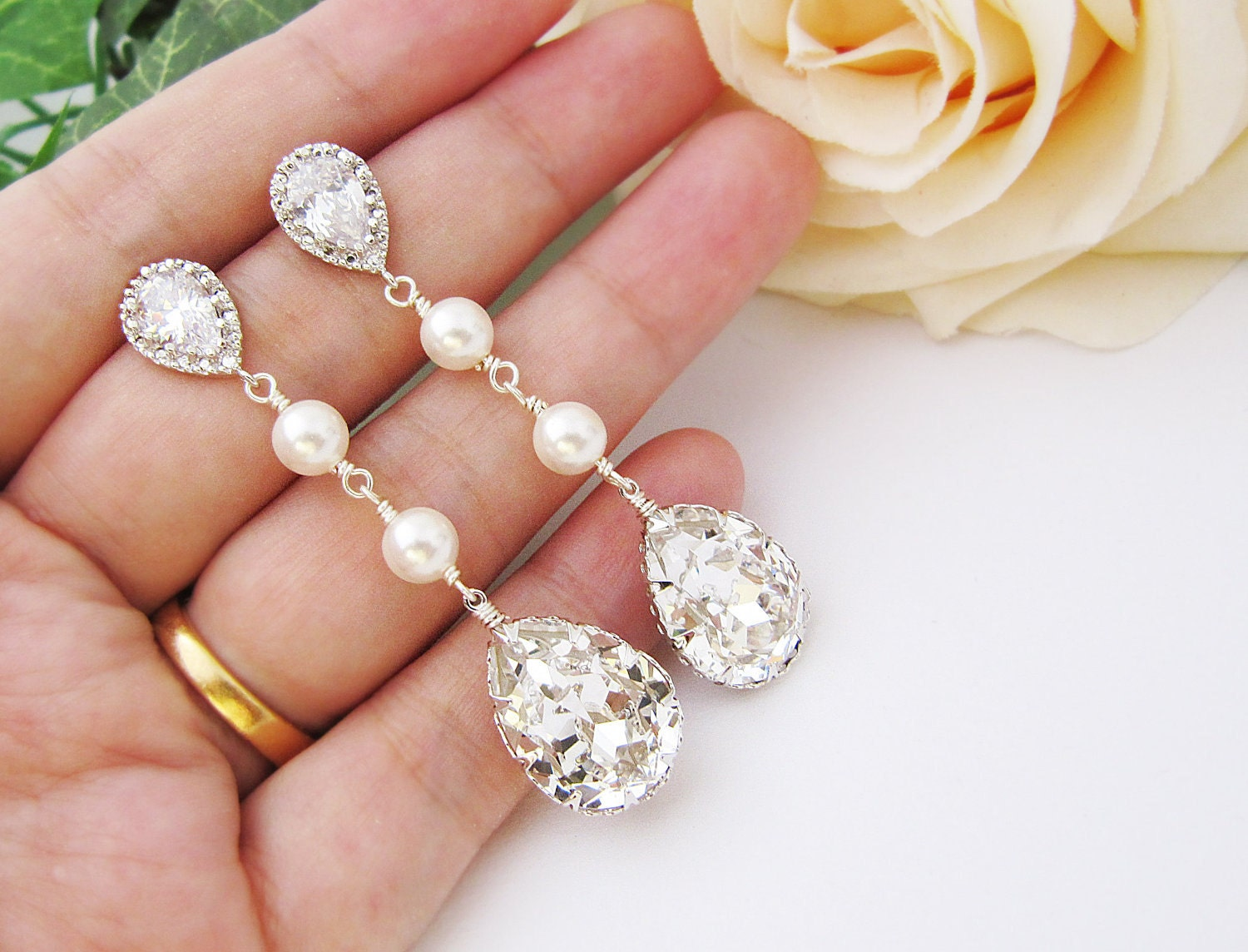 Wedding Bridal Jewelry Bridal Earrings Bridesmaid Earrings